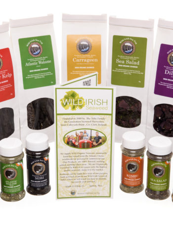 Wild Irish Seaweed Organic Irish Seaweed Product Range Dillisk Dulse Carrageen Nori