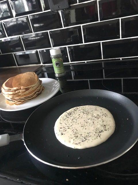 Seaweed sprinkle pancakes
