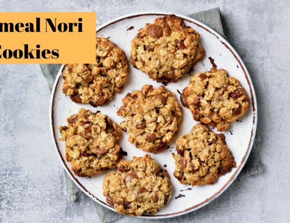 Oatmeal Nori cookies
