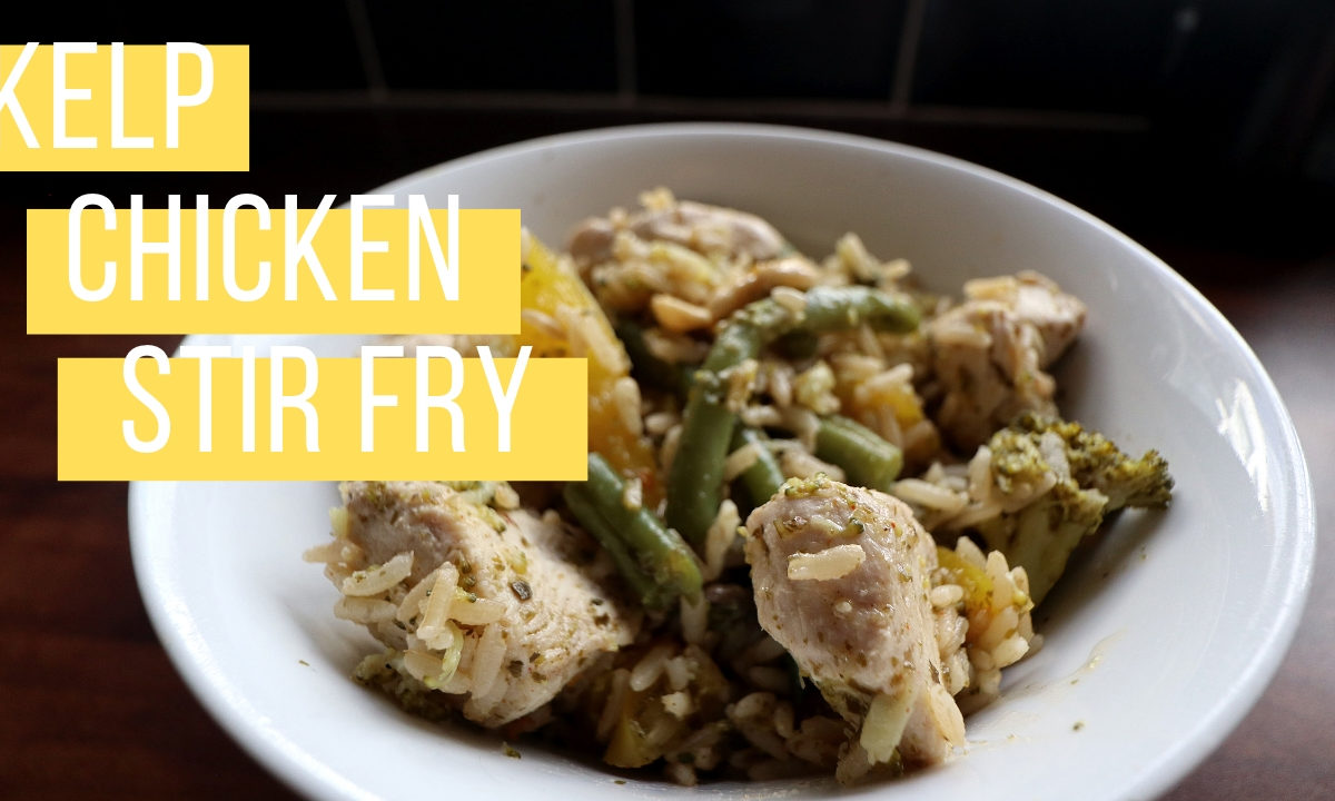 Kelp chicken stir fry