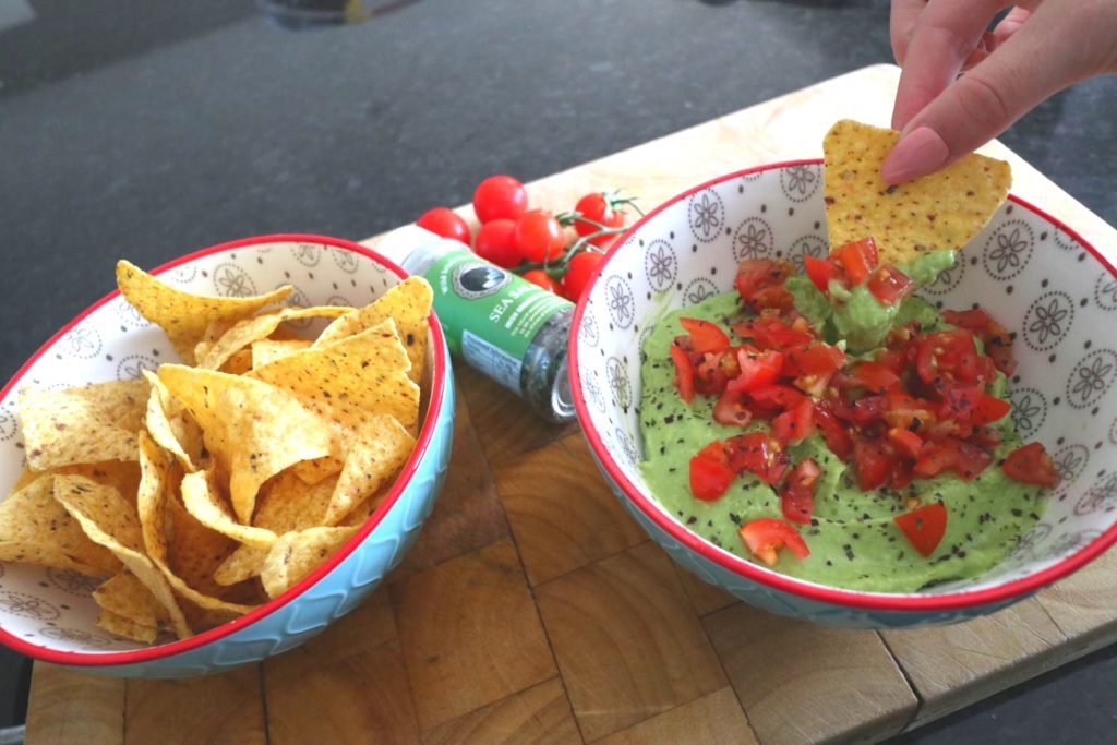 finished guacamole recipe